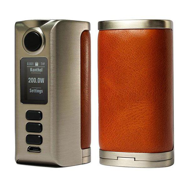 (Presale)    Riva  DNA250C 200W  -  VW 1~200W, 2 x 18650, Evolv DNA250C chipset - Silver-Plain Cognac
