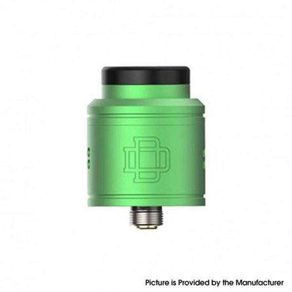 DRUGA 2 BF RDA Rebuildable Dripping Vape Atomizer - Aluminum + SS, 24mm - Green
