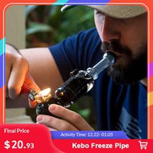2019 Kebo Freeze Pipe Glass dry herb herbal vape vaporizer pen frozen chamber cooled Filtration smoke Cooling Pipe
