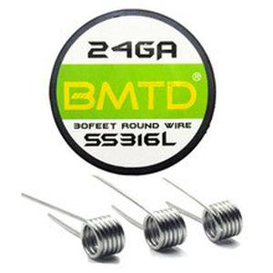 SS316L 24 26 28 30 32 Gauge RDA RBA Rebuildable Atomizer Heating Wires E cigarette Stainless steel Heating Wires 10m/roll
