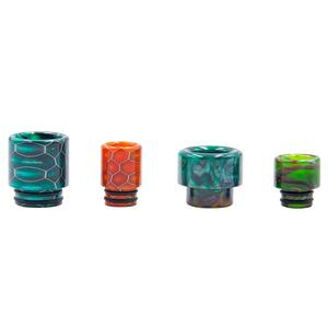 D2 Replacement 510 Resin Drip Tip + 810 Resin Drip Tip (4PCS) - Random Color