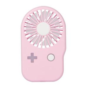 Mini slim game machine fan rechargeable usb student large air volume outdoor portable fan - Pink