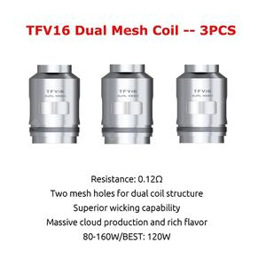 Original TFV16 Dual Mesh Triple Conical Mesh Coil For TFV16 Tank Electronic Cigarette Atomizer Core