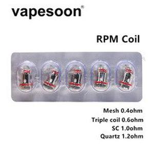 50pcs RPM Coils Mesh 0.4ohm / Triple 0.6ohm / SC 1.0ohm / Quartz 1.2ohm for  RPM40 / Fetch Mini Kit