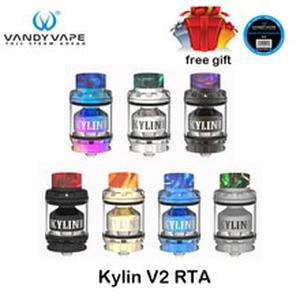 Original  Kylin V2 RTA 3ml/5ml E Cigarette Vape Tank RTA Atomizer for the VandyVape  squonk mod