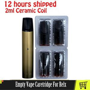 4pc Refillable Vape Cartridge Pod Empty 2ml For Relx Devices Ceramic Coil Electronic Cigarettes Pods