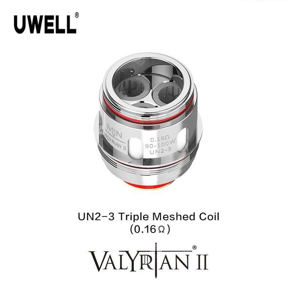 2PCS UWELL VALYRIAN 2 UN2-3 Replacement Coil 0.16ohm Triple Meshed Coil for Electronic Cigarette VALYRIAN 2 Tank