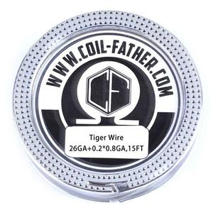 26ga+0.2*0.8 0.36ohm Tiger Wire for RBA Atomizer (15FT) - Silver