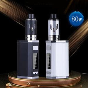 Original JK 80W box mod kit 2500mah Build-in Battery with 3.0ml 0.5ohm Vaper Tank vaporizer 30-80W Huge Vapor vape pen kit