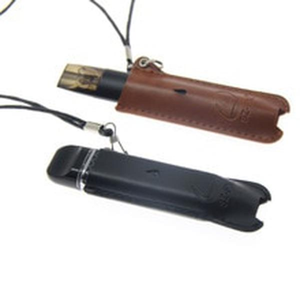 Leather Protector Case Cover Pouch Lanyard for Vape Pen Pods Kit  Micro Pod Black/Brown 1PCS