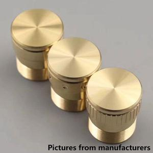 Vertical stripes With lock button for Roger Mechanical Mod (1PCS) - Brass
