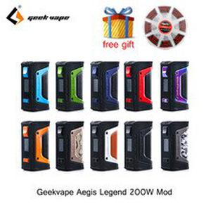 GeekVape Aegis mod aegis Legend 200W TC Box MOD Powered by Dual 18650 batteries e cigs No Battery for zeus rta Tank