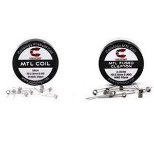 Coilology prebuilt coil 316SS NI80 Fused Clapton Mtl heating wire for Electronic Cigarette RTA RDA