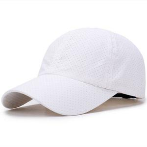 Quick-drying hat casual wild sun protection sun cap - White