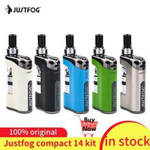 In stock!!! justFog Compact 14 Kit 1500mah built-in battery E-Cig Vaporizer Kit with 1.2ohm/1.6ohm Q14 Clearomizer Tank Vape Kit
