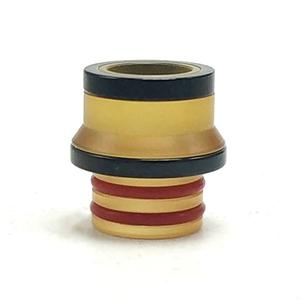 Replacement 510 Drip Tip PEI + 316SS for Hussar Project X Style RTA  by  - Yellow + Black