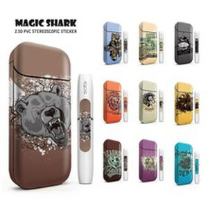 Magic Shark Lion Bear Horse Owl Stereo Sticker Film  Electronic Cigarette Printing Cover PVC Case Skin for IQOS 2.4 Plus 2.4+