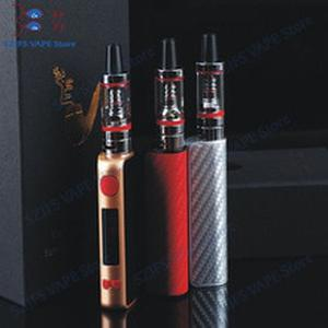 Super 80w kit with LED 2200mah battery 2ml atomizer liquid electronic cigarette vaporizer pen huge vaporizer box mod hookah kit