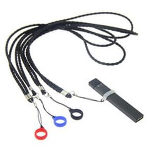 PU Leather Vape Necklace Lanyard with 13mm Ring Band for 13mm-25mm Vape Pen Pod kit Electronic Cigarette Accessories
