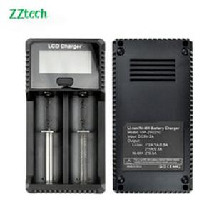 Original ZH-221 LCD 3.7V 1.2V E-cigarette charger 18650 18350 21700 26650 16340 14500 10440 18500 17670 Lithium Battery Charger