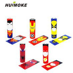 Colorful Battery Sticker For 18650 Battery Wrap Protective Skin Sleeve Wholesale PVC Heat Shrinkable