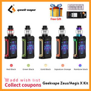 Aegis X Kit 200W  5.5ml Cerberus tank Aegis X zeus kit Electronic Cigarette Vape Waterproof Zeus Kit VS Aegis Solo