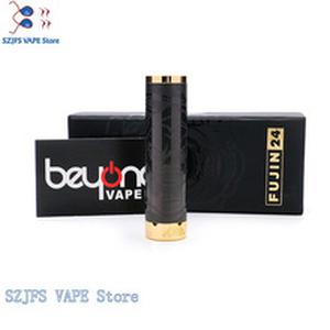 THC TaurenLimited Edition Fujin 24 Stainless Steel Mechanical Mod Vape Mod 24mm 24k Gold Plated Firing Button Fit 18650 Battery