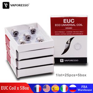 25pcs Original  SS316L Ceramic EUC 0.3 0.5 0.6 Coil for Estoc VECO/VECO Plus Gemini Tank Tarot Nano VECO ONE Plus Kit