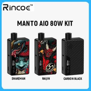 Original Electronic Cigarette Rincoe Manto AIO 80W Pod Mod Kit powered by single 18650 battery with max 80W output vape kit