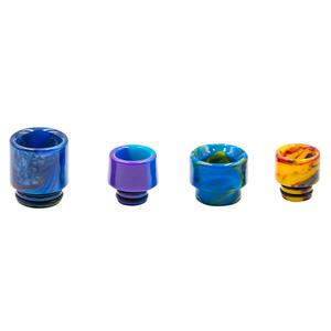 D1 Replacement 510 Resin Drip Tip + 810 Resin Drip Tip (4PCS) - Random Color
