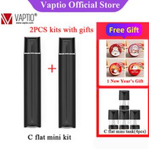 Vape pen C Flat Mini kit 9W Electronic Cigarette Vapor KIT 260mAh Vaporizer 1.3ML with 1.5ohm Atomizer Pod System