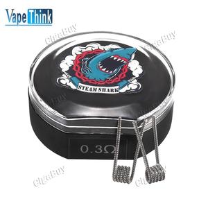 10 x  Vapethink Steam Shark Flat Tsuka Coil 0.3Ohm