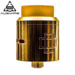 Druga RDA Atomizer Tank 24mm Clamp Snag System Massive Post Holes for DIY Coil Gold Plated Deck Electronic Cigarette RDA