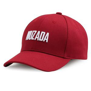NUZADA Cotton Letter NUZADA Embroidered Breathable duck tongue cap - Red