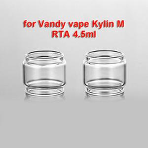 3PCS With Cap Replacement Original Size Clear Bubble Glass Tube for Vandy vape Kylin M RTA 4.5ml