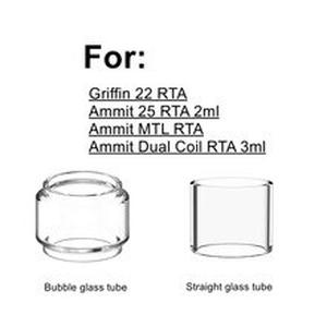 Replacement Pyrex Bulb Bubble Glass Tank Tube For  Ammit MTL/ 25mm/ Dual coil 3ml RTA Griffin 22 RTA