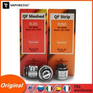 3pcs/pack  Coil QF Strip 0.15ohm Meshed 0.2ohm For Replacement SKRR S Tank Atomizers Core E-cig Vape LUXE S GEN TC Kit