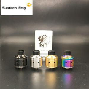 Newest Haday citadel RDA Atomizers With Wide Bore Drip Tip 22MM Diameter Electronic Cigarette Huge Vapor Fit 510 Mod