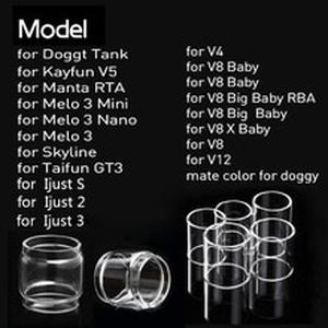 Glass Tube Replacement For V12  Ijust S/ijust 2/ijust 3/ELLO DURO/PICO 25/MELO RT 22/25/MELO 300/Melo 3 Mini/Melo 4 D22/25