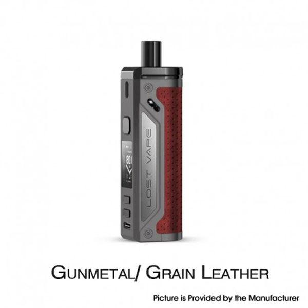 Thelema 80W Pod System VW Mod Kit - 3000mAh, 5~80W, 4.0ml, 0.2ohm / 0.3ohm - Gunmetal/Grain Leather